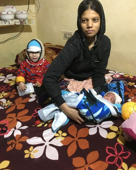 The young girl living in one room in Amritsar Picture: Alison Marchant