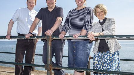 Left to right: Rev David Caporn, Rev Nigel Candelent, curate, Kirsty Hammond, youth minister, Rev An
