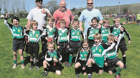 A Sidmouth RFC junior team from 2009. Picture: ARCHANT