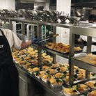 Neil Barber preparing meals for school pupils in the kitchens at Otter Garden Centre. Picture: Otter