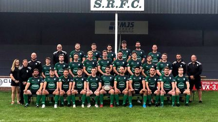 Sidmouth RFC at the start of the 2019/20 season. Back Row: John Dunn, Mark Unsworth, Asa Unsworth, C