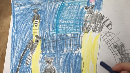 Another of Issy's drawings of the lemurs. Picture: Katherine Ashbullby