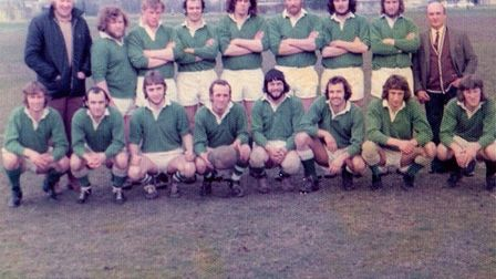 Sidmouth Chiefs in Brussels 1975 Picture SRFC