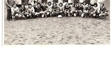 Sidmouth Chiefs on tour in 1976 at Lannion in France. Picture SRFC