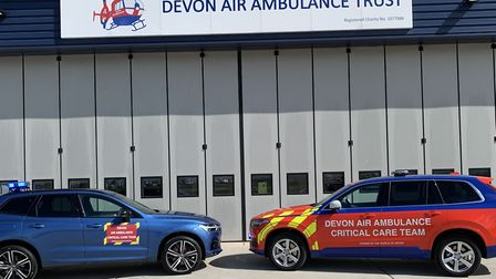 The vehicle on loan, left, and one of DAAT's own Critical Care vehicles. Picture: DAAT