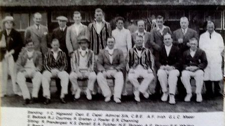 The Sidmouth team of 1936. Picture: SCC