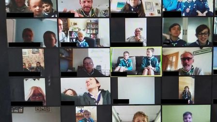 The virtual meeting. Picture: Ian Fletcher