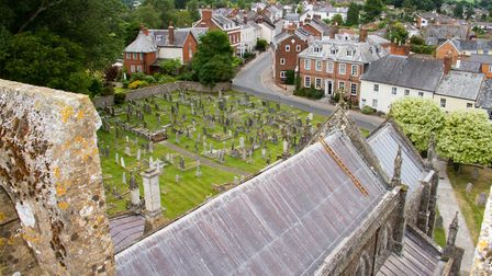 One of the outstanding views from Ottery St Mary Church. Ref sho 29 19TI 7729. Picture: Terry Ife