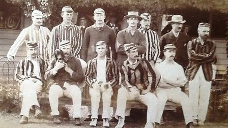 Sidmouth CC in 1885. Picture SCC