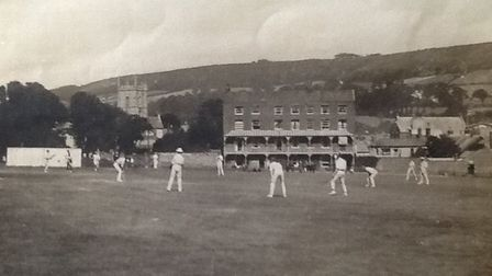 Action from the Fortfield in 1926. Picture SCC