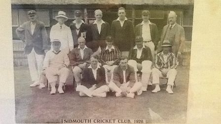 The Sidmouth CC team of 1936. Picture SIDMOUTH CC