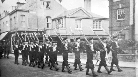 VE Day parade. Picture: Sidmouth Herald Archive