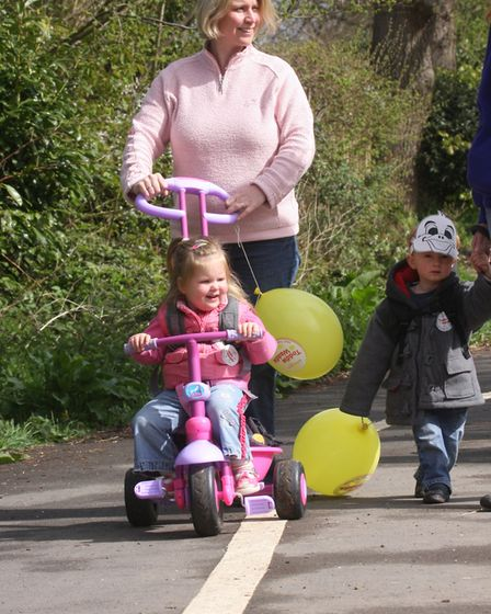 Ten years ago these little ones from Kreche & Co took part in a Toddle Waddle for Meningitis Ref P63