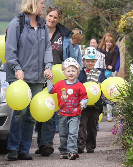 Ten years ago these little ones from Kreche & Co took part in a Toddle Waddle for Meningitis Ref P62