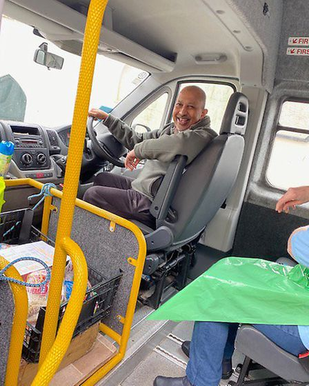 Heading off in the minibus with pre-cooked lunches Picture: Sidmouth Voluntary Services