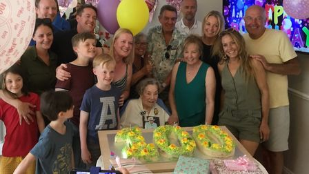 Jean Green had celebrated her 100th birthday last July. Picture: Sidmouth Nursing Home