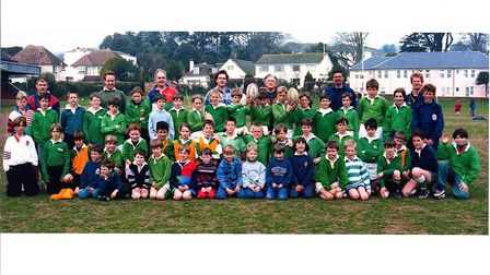 Sidmouth RFC Junior section from the early 1990s. Picture: SRFC