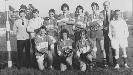 Sidmouth RFC Colts after their 1971 Tiverton Sevens success. Picture; SRFC