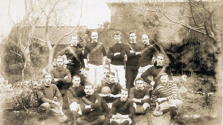 The Sidmouth RFC team of 1884. Picture SRFC