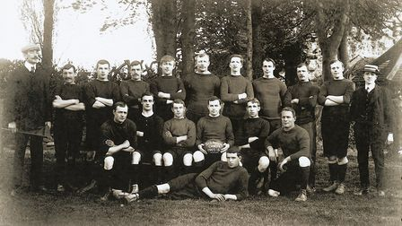 The Sidmouth RFC team of 1905. Picture SRFC