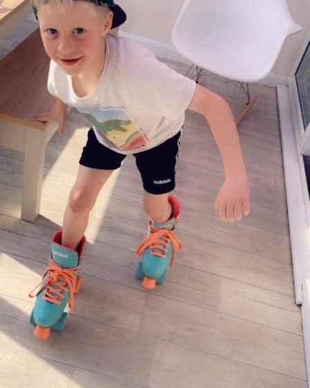 A young member of Skate Squad. Picture: Skate Squad