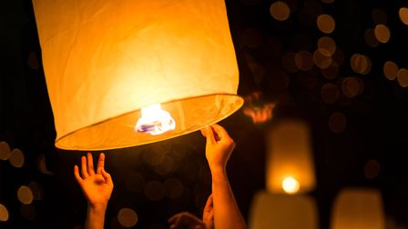 Sky lanterns Picture: Getty Images