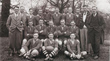 The 1935 Sidmouth RFC touring party at Chingford. Picture; SRFC