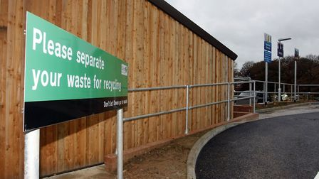 The Sidmouth recycling centre that will service Sidmouth,Ottery and the surrounding area. Photo by T