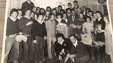 The SRFC tour party before their departure for the 1980 tour to the USA. Picture SRFC