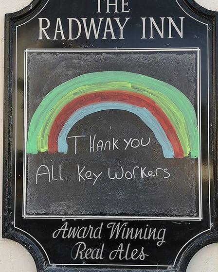 Support for key workers at The Radway Inn Picture: Ian Lange