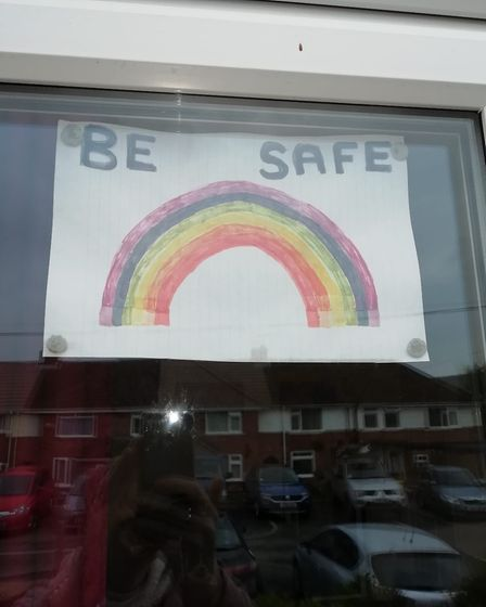 A rainbow reminder to keep safe Picture: Dianne Harris