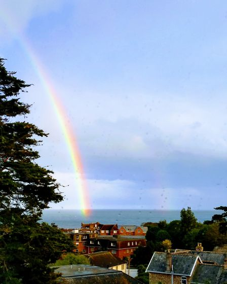A rainbow over Sidmouth during the clap for the NHS Picture: David Roberts