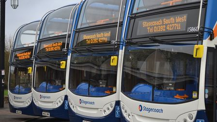Stagecoach South West is running on reduced timetables during the coronavirus crisis. Picture: Stage