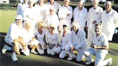 The Sidmouth Croquet Club who qwere successul in the 2009 Seagull Trophy meeting with Budleigh. Pict