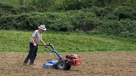 Rotavating the wildflower meadow. Picture: Friends of The Byes