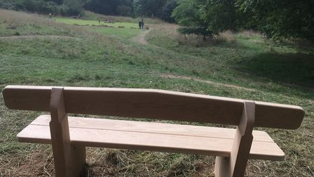 A new bench at The Byes. Picture: Friends of The Byes