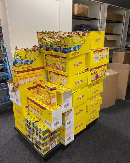 Mexican food donated by Lidl. Picture: Ian Barlow