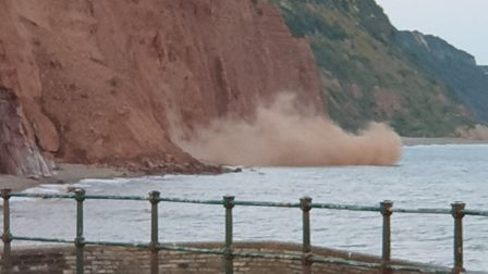 The cliff fall at East Beach. Picture:Emma Hunter