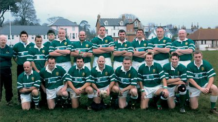 Sidmouth RFC 1st XV in the 2002/03 season. Pictyure: SRFC