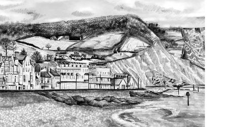 Molly Finnegan, of Molly Jane Illustration, spent three days creating a digital image of Sidmouth se