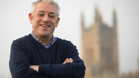 Speaker of the House of Commons, John Bercow walks over Westminster Bridge from a session in the gym