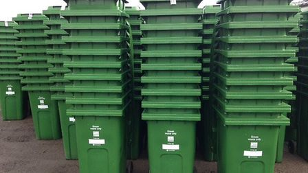 Recycling bins used by households across East Devon. Picture EDDC
