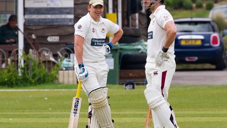 Sidmouth batsmen Nick Gingell and Will Murray at home to Paington. Ref shsp 19 17TI 2363. Picture: T