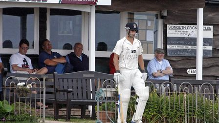 Josh Bess makes his way to the wicket against Bradnich. Photo by Terry Ife ref shsp 4167-31-13TI To