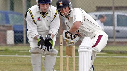 Anthony Grittiths at the crease against Bradnich. Photo by Terry Ife ref shsp 4162-31-13TI To order