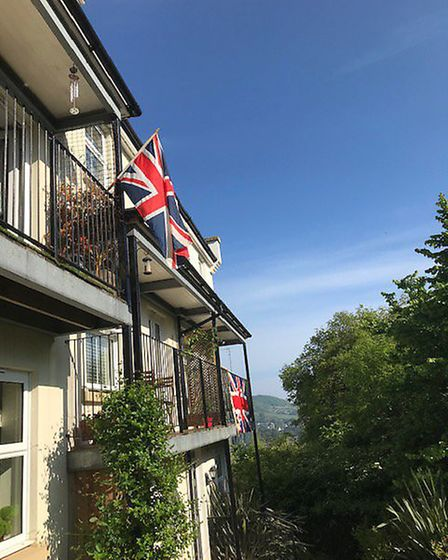 Flags flying high at Howarth Close for VE Day Picture: Claire Housden