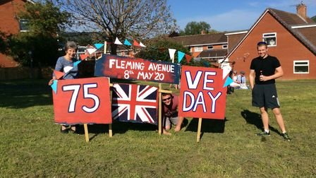 VE Day celebrations at Fleming Avenue, Sidmouth Picture: Alexa Baker