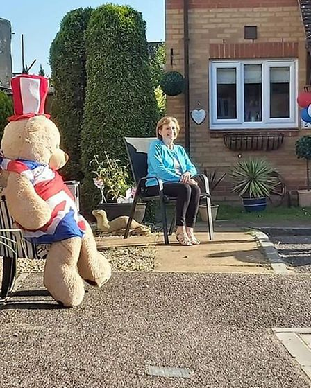 VE Day street party at Otter Reach in Newton Poppleford Picture: Sharon Ward