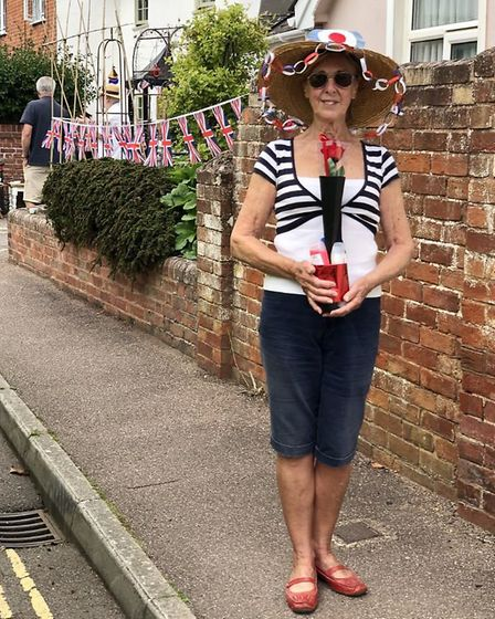 Lyndsey, winner of best VE Day hat Picture: Heather Bewick