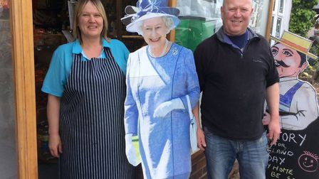 Her Majesty visits Drew's in Sidbury on VE Day Picture Andy Webb